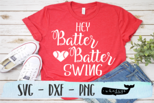 Download Free Hey Batter Batter Swing Baseball Svg Graphic By Whaleysdesigns for Cricut Explore, Silhouette and other cutting machines.