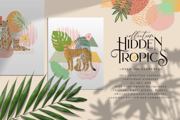 Hidden Tropics Graphic Illustrations By BilberryCreate
