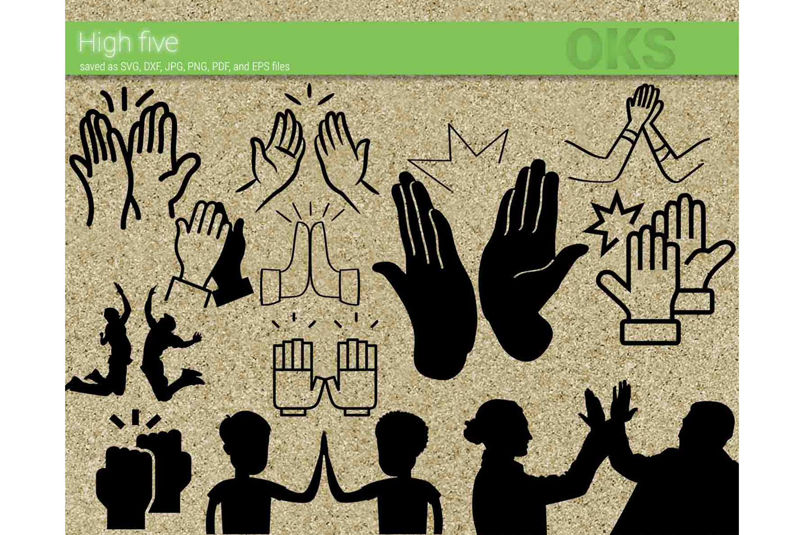 Download Free High Five Vector Graphic By Crafteroks Creative Fabrica for Cricut Explore, Silhouette and other cutting machines.