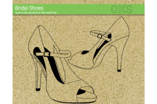 Download Free High Heels Wedding Shoes Svg Vector Grafik Von Crafteroks for Cricut Explore, Silhouette and other cutting machines.