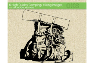 Download Free Hiking Camping Vector Graphic By Crafteroks Creative Fabrica for Cricut Explore, Silhouette and other cutting machines.
