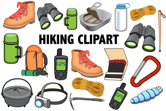 Print on Demand: Hiking Clipart Graphic Illustrations By Mine Eyes Design
