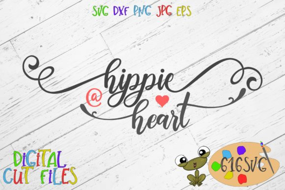 Download Free Hippie At Heart Svg Graphic By 616svg Creative Fabrica for Cricut Explore, Silhouette and other cutting machines.
