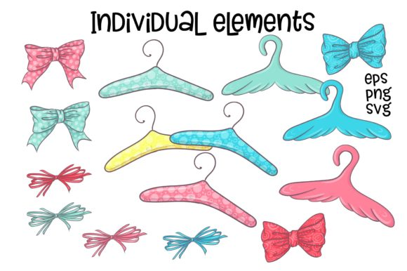 Print on Demand: Hobby Sewing Vector Clip Art Graphic Illustrations By nicjulia - Image 4