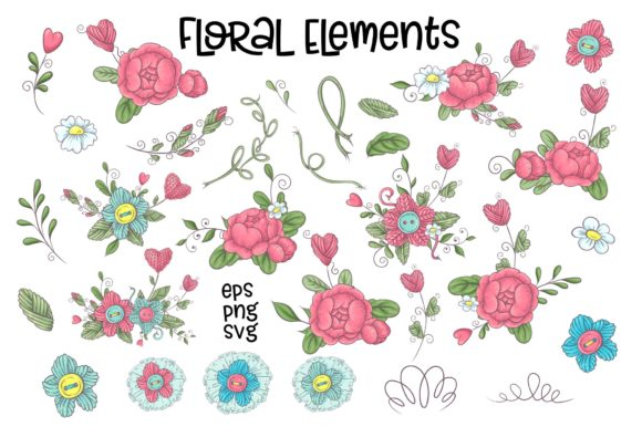 Print on Demand: Hobby Sewing Vector Clip Art Graphic Illustrations By nicjulia - Image 6