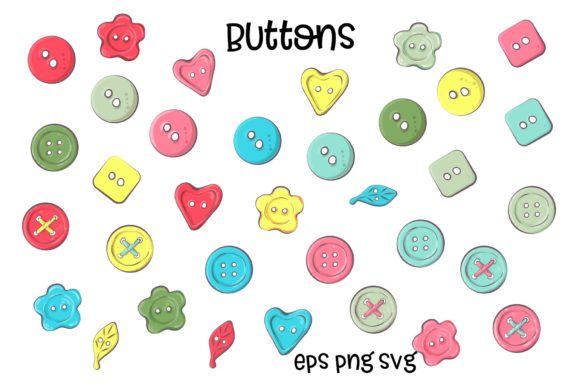 Print on Demand: Hobby Sewing Vector Clip Art Graphic Illustrations By nicjulia - Image 8