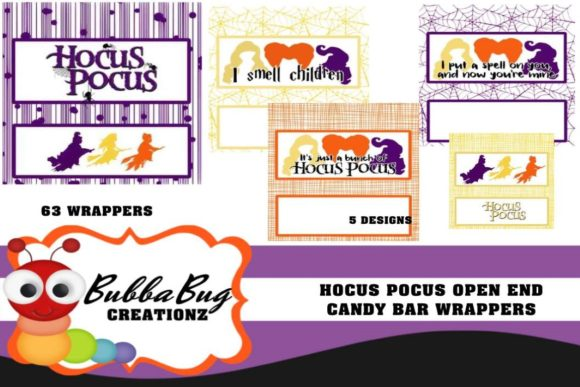 Hocus Pocus Candy Wrapper Set Graphic Crafts By BUBBABUG