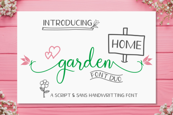 Print on Demand: Homegarden Duo Script & Handwritten Font By kammaqsum