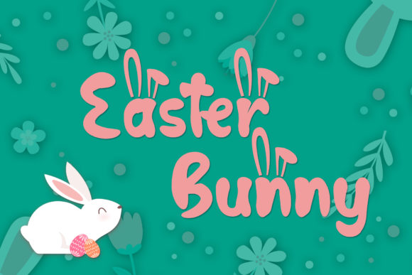 Print on Demand: Hop Hop Bunny Display Font By dmletter31 - Image 2