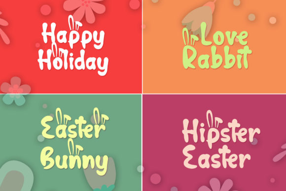 Print on Demand: Hop Hop Bunny Display Font By dmletter31 - Image 4