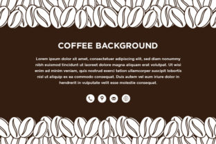 Download Free Horizontal Banner With Coffee Graphic By Noory Shopper for Cricut Explore, Silhouette and other cutting machines.