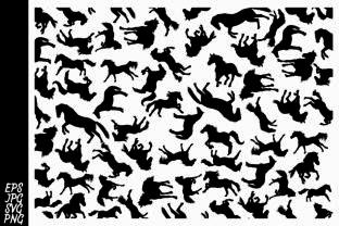 Download Free Horse Pattern Graphic By Arief Sapta Adjie Ii Creative Fabrica for Cricut Explore, Silhouette and other cutting machines.