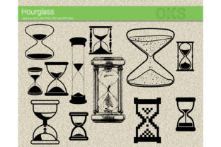 Print on Demand: Hourglass Graphic Crafts By CrafterOks