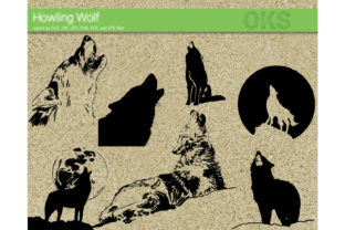 Download Free Howling Wolf Svg Vector Graphic By Crafteroks Creative Fabrica for Cricut Explore, Silhouette and other cutting machines.