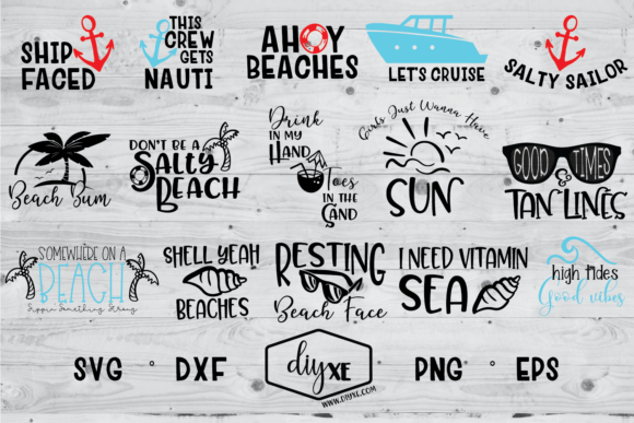 Huge Beach Bundle Graphic Crafts By Sheryl Holst