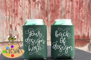 Hunter Green Can Cooler Mockup Graphic Product Mockups By 616SVG