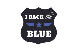 I Back the Blue Fire & Police Craft Cut File By Creative Fabrica Crafts