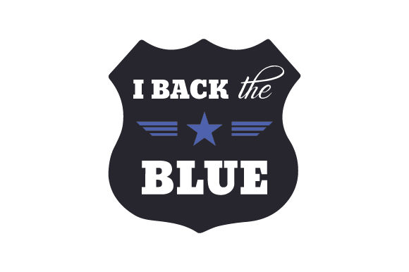 I Back the Blue Fire & Police Craft Cut File By Creative Fabrica Crafts - Image 1