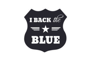 I Back the Blue Fire & Police Craft Cut File By Creative Fabrica Crafts 2