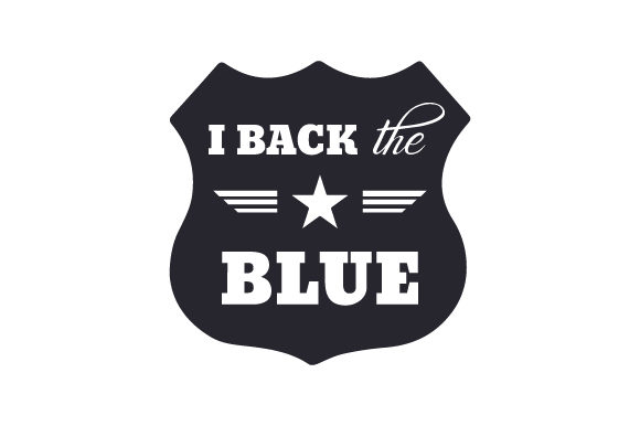 I Back the Blue Fire & Police Craft Cut File By Creative Fabrica Crafts - Image 2