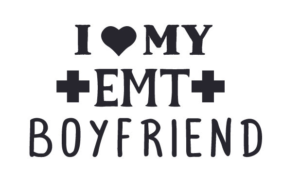 Download Free I Heart My Emt Boyfriend Svg Cut File By Creative Fabrica for Cricut Explore, Silhouette and other cutting machines.