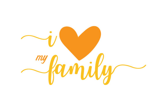 Download Free I Love My Family Quote Svg Cut Graphic By Thelucky Creative for Cricut Explore, Silhouette and other cutting machines.