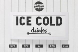 Ice Cold Drinks - Kitchen Poster Graphic By RobinBobbinDesign