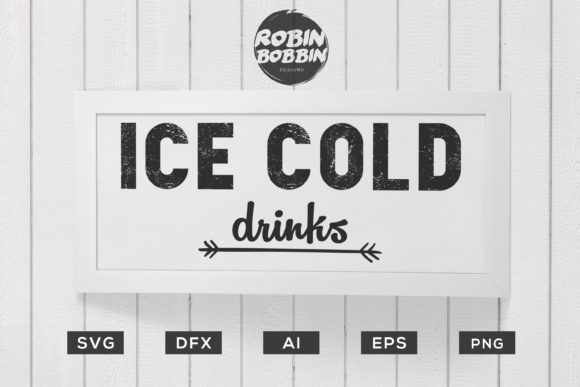 Ice Cold Drinks - Kitchen Poster