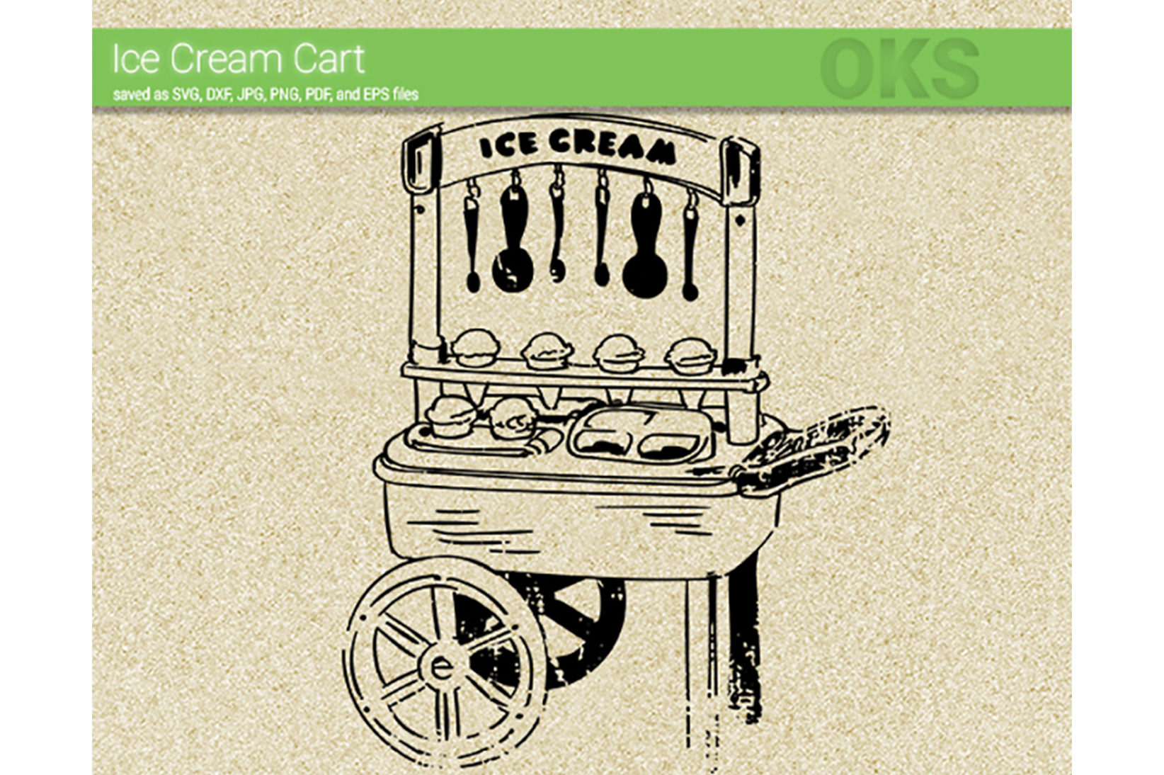 Download Free Ice Cream Cart Svg Vector Graphic By Crafteroks Creative Fabrica for Cricut Explore, Silhouette and other cutting machines.