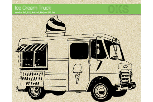 Download Free Ice Cream Truck Svg Vector Graphic By Crafteroks Creative Fabrica for Cricut Explore, Silhouette and other cutting machines.