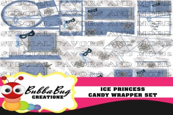 Ice Princess Candy Wrapper Set Graphic Crafts By BUBBABUG