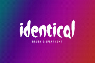 Print on Demand: Identical Display Font By FontCove