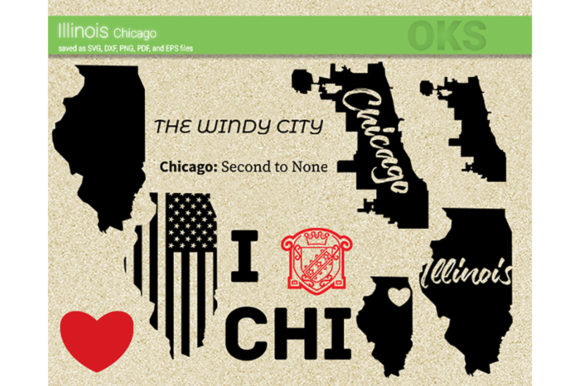 Download Free Illinois Chicago Svg Vector Graphic By Crafteroks Creative Fabrica for Cricut Explore, Silhouette and other cutting machines.