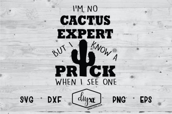 Download Free I M No Cactus Expert But I Know A Prick Graphic By Sheryl Holst for Cricut Explore, Silhouette and other cutting machines.