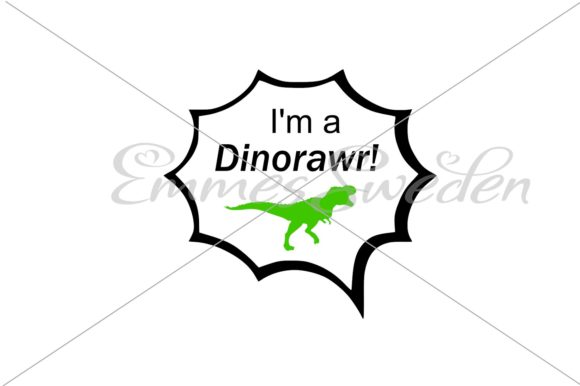 Download Free Im A Dinorawr Svg Dinosaur Svg Graphic By Emmessweden for Cricut Explore, Silhouette and other cutting machines.