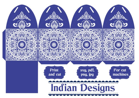 Print on Demand: Indian Card Graphic 3D SVG By jgalluccio