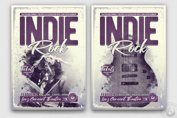 Indie Rock Flyer Template V3 Graphic By ThatsDesignStore