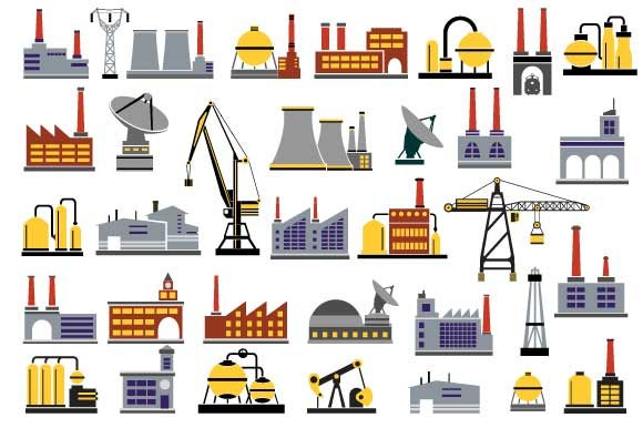 Print on Demand: Industrial Vector Set Graphic Icons By AlexZel