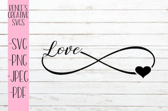 Download Free Infinity Love Svg Graphic By Reneescreativesvgs Creative Fabrica for Cricut Explore, Silhouette and other cutting machines.