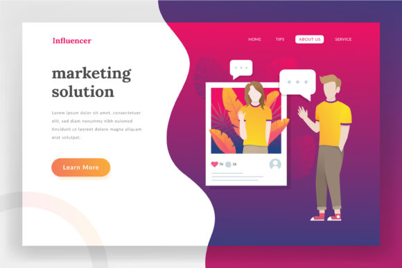 Influencer Landing Page Graphic Websites By irfanfirdaus19