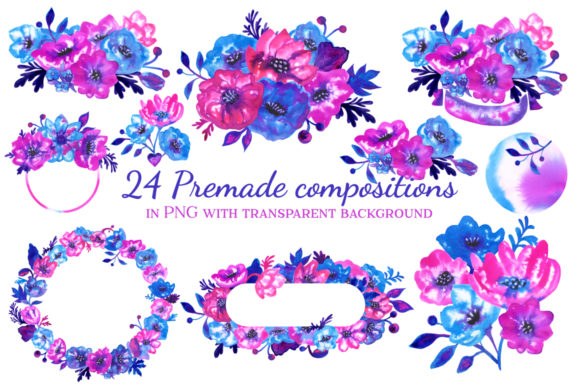 Print on Demand: Ink Flowers Graphic Illustrations By annamagenta - Image 3