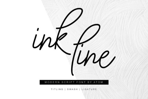 Print on Demand: Ink Line Script & Handwritten Font By Letteratom