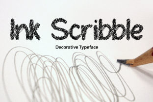 Ink Scribble Font By da_only_aan