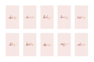 Instagram Highlight Covers Rose Gold Graphic Graphic Templates By Design Owl 2