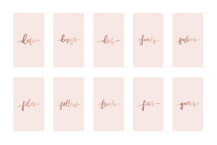 Instagram Highlight Covers Rose Gold Graphic Graphic Templates By Design Owl 3
