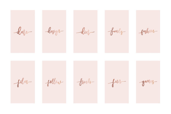 Instagram Highlight Covers Rose Gold Graphic Graphic Templates By Design Owl - Image 3
