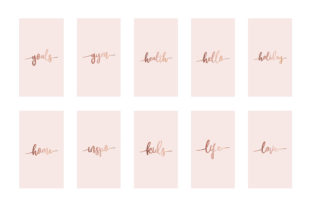 Instagram Highlight Covers Rose Gold Graphic Graphic Templates By Design Owl 4