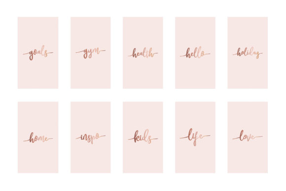 Instagram Highlight Covers Rose Gold Graphic Graphic Templates By Design Owl - Image 4