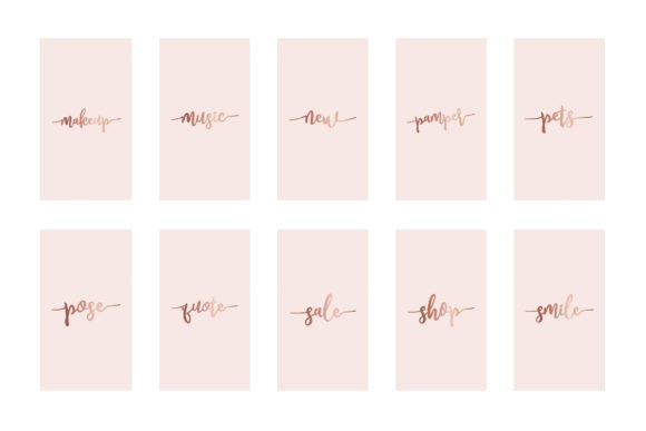 Download Free Instagram Highlight Covers Rose Gold Grafico Por Design Owl for Cricut Explore, Silhouette and other cutting machines.