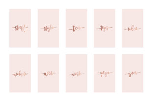 Instagram Highlight Covers Rose Gold Graphic Graphic Templates By Design Owl 6